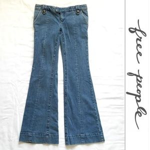 Free People Flare-Leg Low-Rise Jeans- Long/Tall